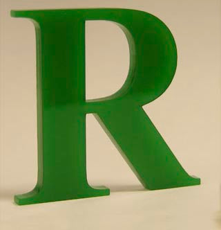 100mm high acrylic letter
