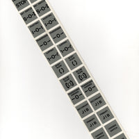 25mm white vinyl labels