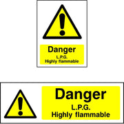 Danger LPG Highly Flammable Sign