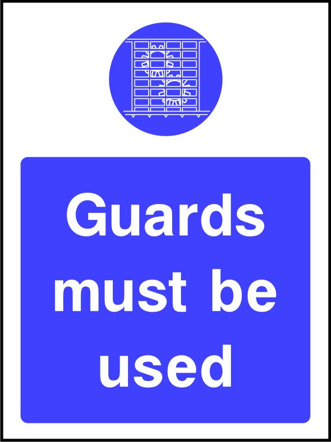 Guards Must be Used mandatory sign