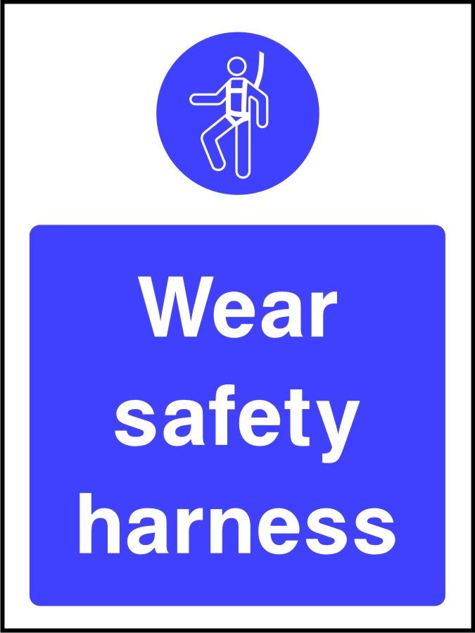 Wear Safety Harness mandatory sign