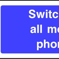 Switch off all Mobile Phones sign