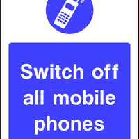 Switch off all Mobile Phones mandatory sign