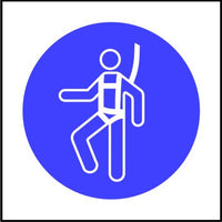 Mandatory Safety Harness symbol Multi-pack signs