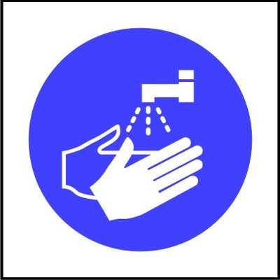 Mandatory Wash Your Hands Symbol Sign