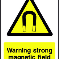 Warning Strong Magnetic Field safety sign