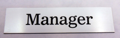 Engraved Acrylic Laminate Manager Door Sign