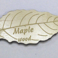Engraved Wooden Leaf on Maple Veneer