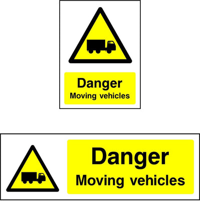 Danger Moving Vehicles safety sign