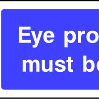 Eye Protection Must Be Worn ppe sign