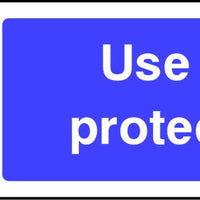 Use ear protectors safety sign