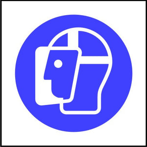 Mandatory Face Shield Symbol Safety Sign