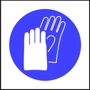 Mandatory Safety Gloves Symbol Sign