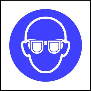 Mandatory Safety Goggles Symbol Sign