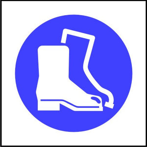 Mandatory Safety Boots Symbol Sign