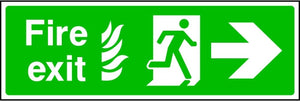 NHS Fire Exit Arrow Right Sign