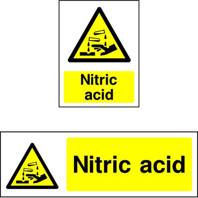 Nitric Acid Warning Sign