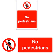 No Pedestrians prohibition sign