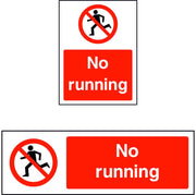 No Running safety sign