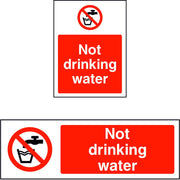 No Drinking Water sign