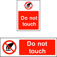 Do not touch safety sign