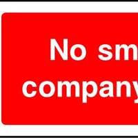 No smoking company policy safety sign