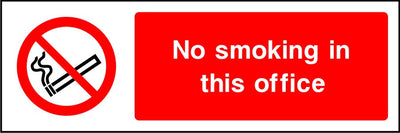 Smoking causes fatal disease sign