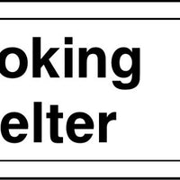 Smoking Shelter arrow right sign