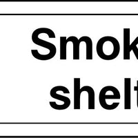 Smoking Shelter arrow left sign