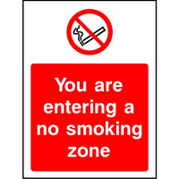 You are entering a no smoking zone sign