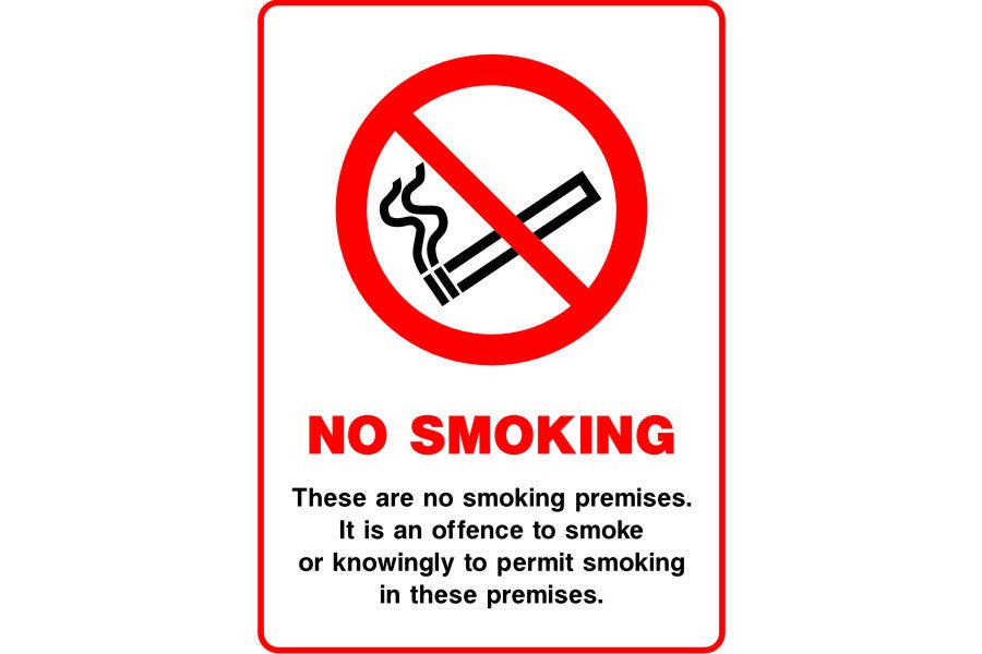 These are no smoking premises It is an offence ... sign