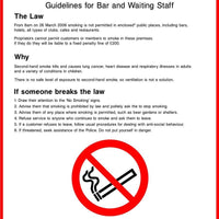 Smoke-free bars, clubs, hotel and restaurants sign