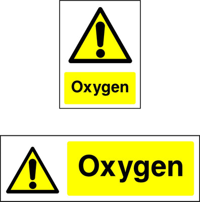 Oxygen Safety Sign