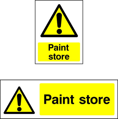 Paint Store Warning Sign