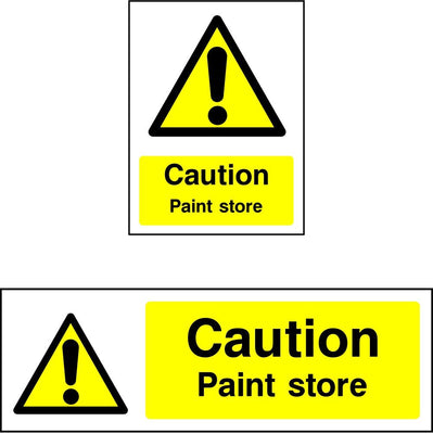 Caution Paint store safety sign