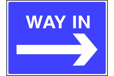 Way In arrow right sign