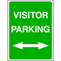 Visitor Parking either direction sign