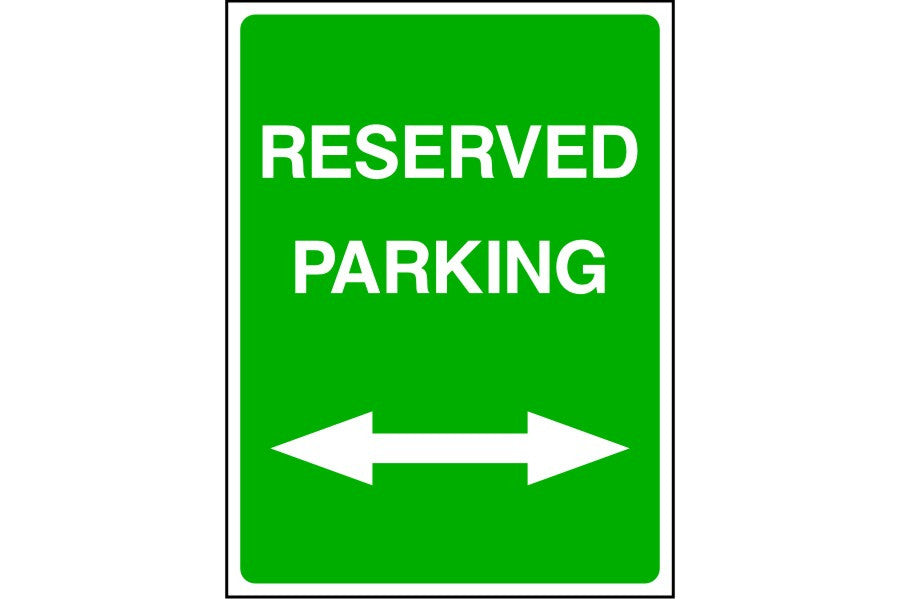 Reserved Parking either direction sign
