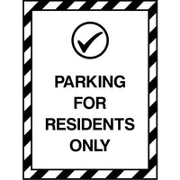 Parking For Residents Only sign