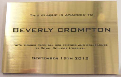Engraved Laminate Plaque 250mm x 200mm