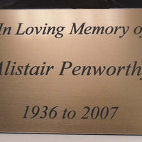 Engraved Laminate Plaque A3 size