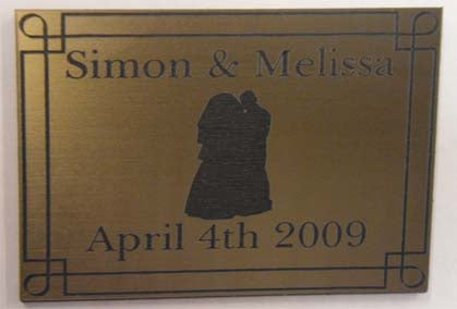 A3 Engraved Acrylic Laminate Plaque