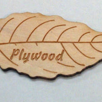 Engraved Wooden Leaf on Plywood