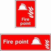 Fire point safety sign