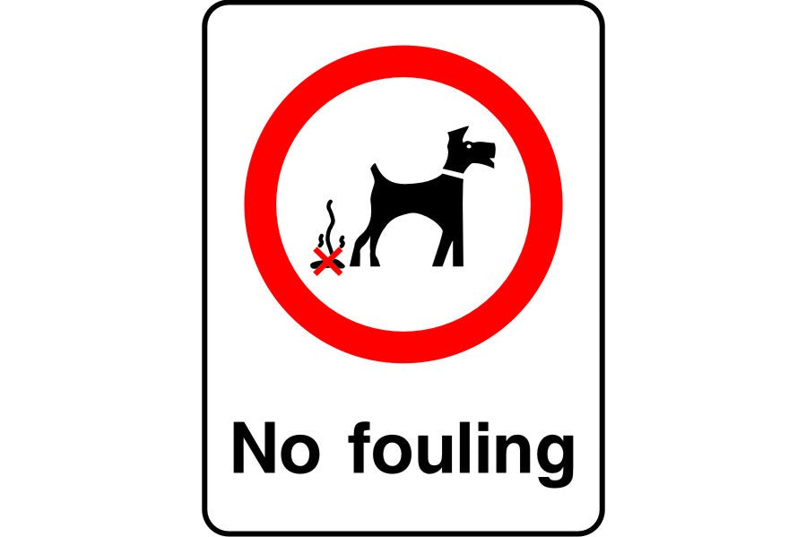 No dog fouling sign