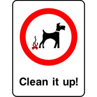 Clean it up park safety sign