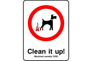 Clean it up penalty safety sign
