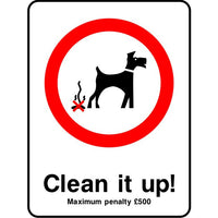 Clean it up penalty sign