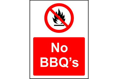 No BBQ's sign