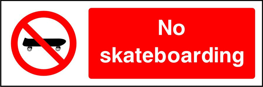 No Skateboarding sign